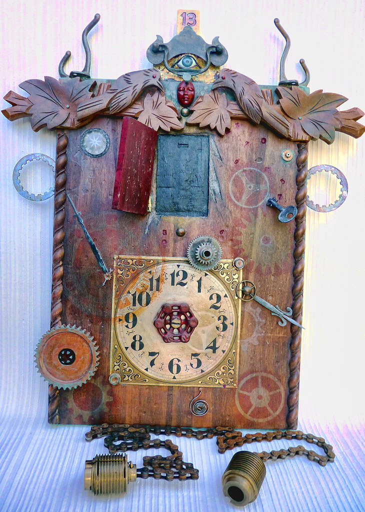 Steampunk Inspired Fantasy Cuckoo Clock