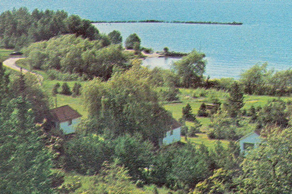 Cross Village Mi Rare Aerial View Legs Inn Cottages And Ca