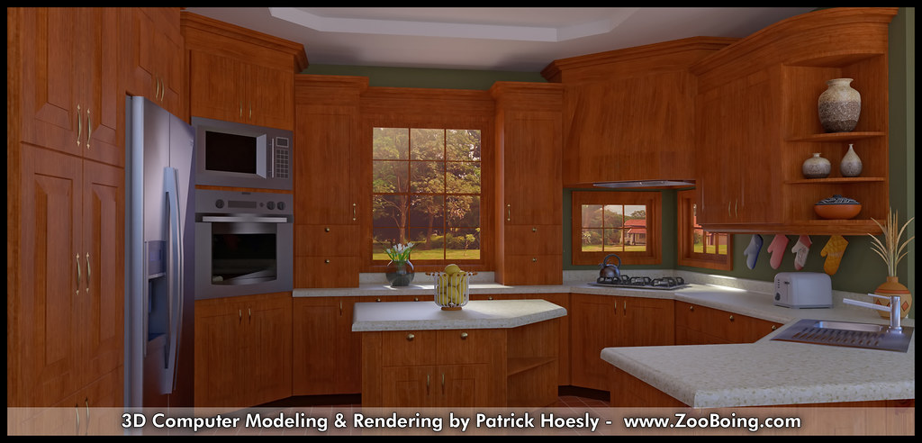 3d Computer Rendering Kitchen Photo Real Click To Pre Flickr