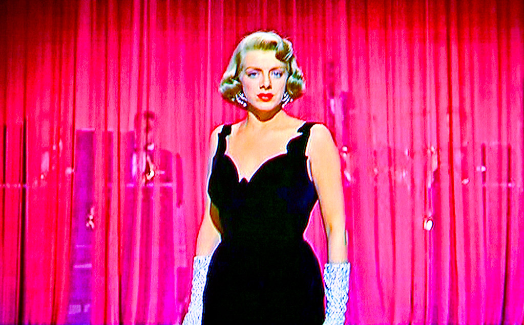 Singer movie star rosemary clooney belts one out in her Classic christmas films black and white