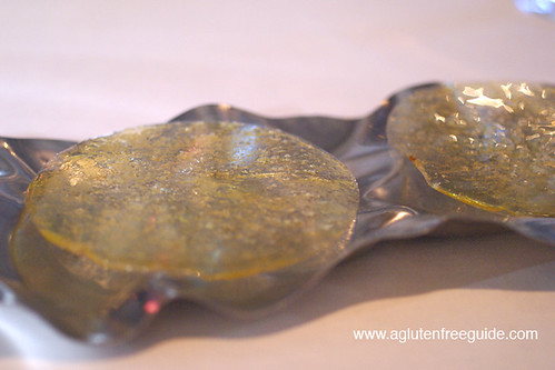 Olive Oil Crisp at El Bulli Restaurant Menu (21) | by yumcat