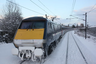 East Coast 91115 at York in the snow | by Simon.Davison.Photography
