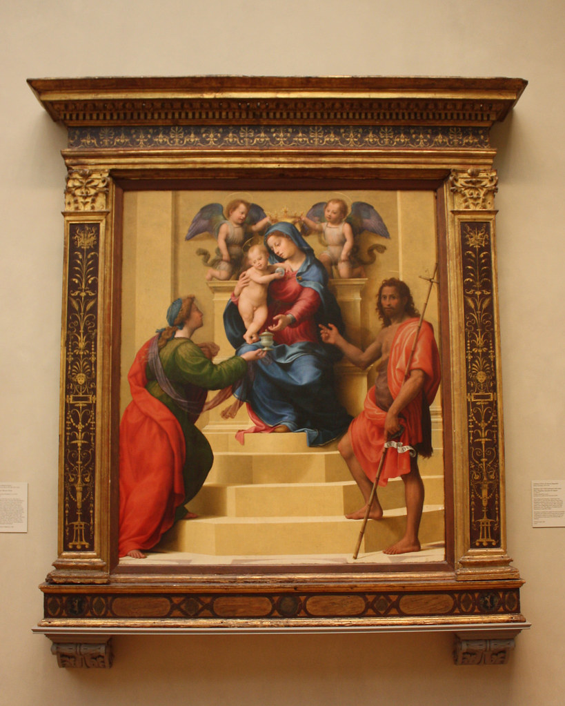 raphael madonna and child enthroned with saints essays