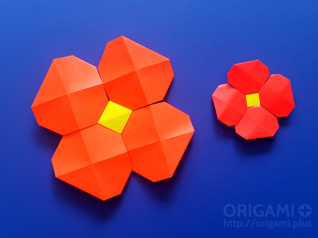 Origami Pixels Flower Some Simple Flowers Made With My Ori Flickr