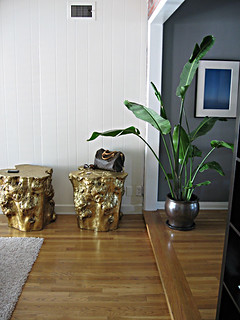 gold tree stumps in our house | by ...love Maegan