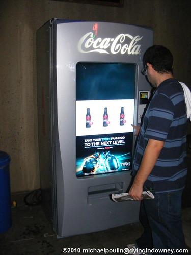 coca cola machine touch screen