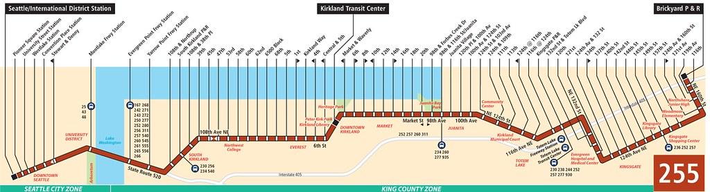 Metro Bus 255 Line Map A Strip Map Of My Regular Bus