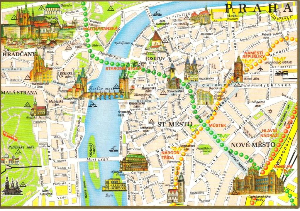 Prague Czech Republic map postcard | Erin | Flickr
