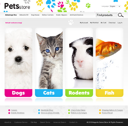 Pet store web design search engine for Design store online