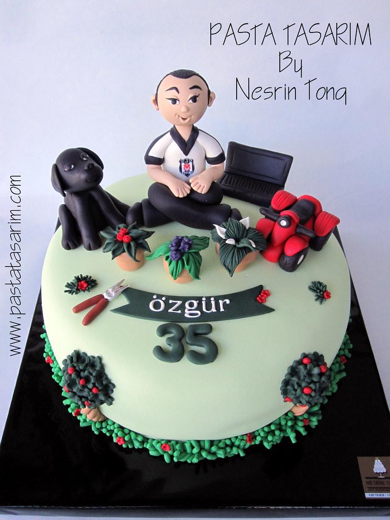Birthday Cake Black Labrador Atv Pc And Flowers Flickr
