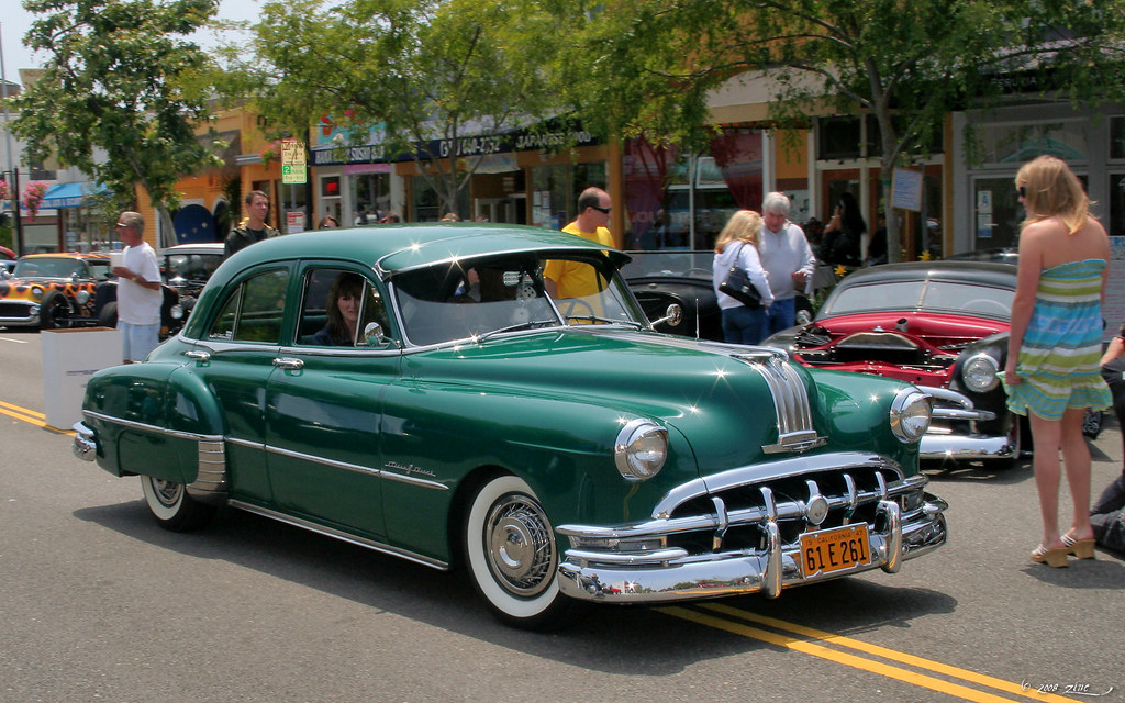 1950 Pontiac Chieftain Deluxe 4d Sdn Green Fvr2 Flickr