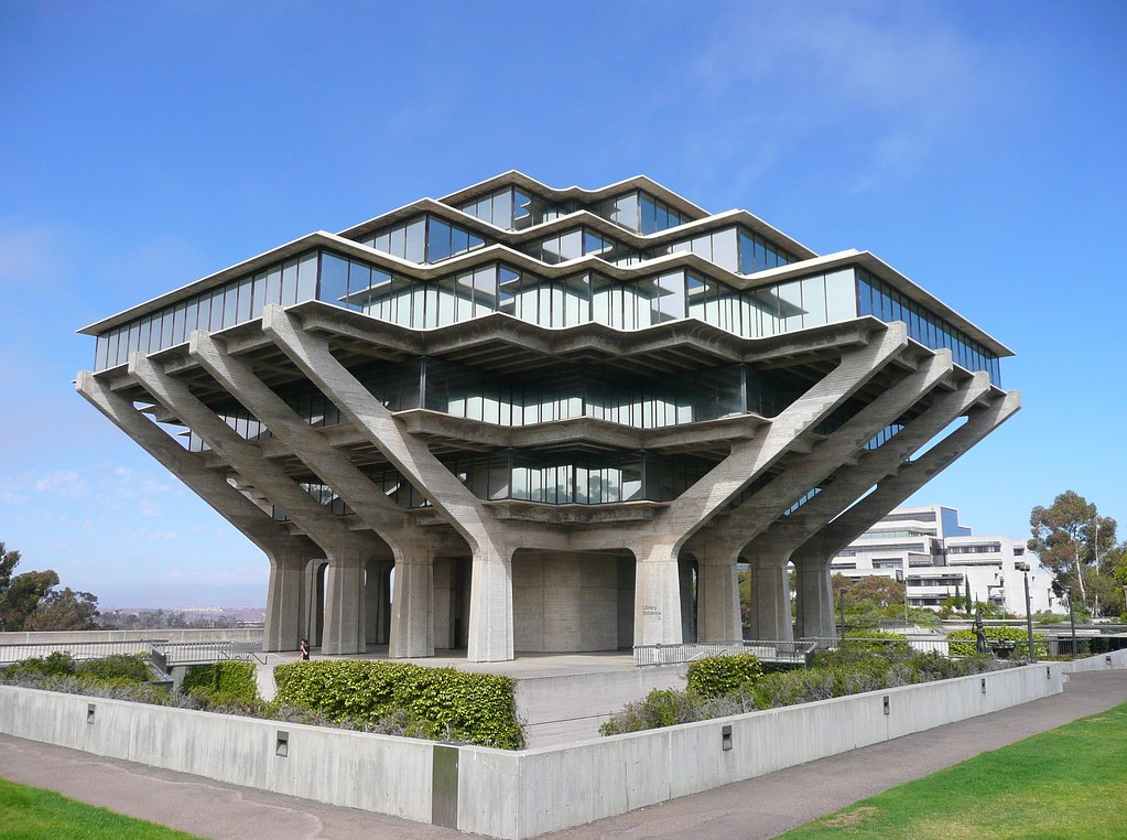 san diego ca ucsd geisel library view from the southwest flickr. Black Bedroom Furniture Sets. Home Design Ideas