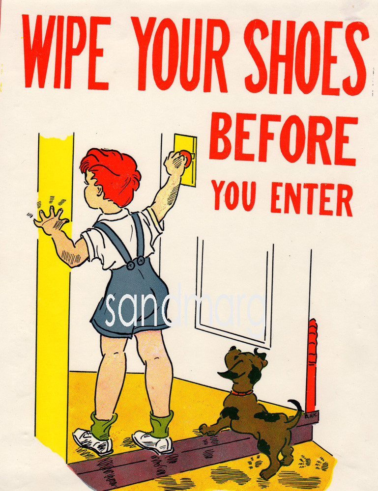 wipe your shoes before you enter sandmarg etsy flickr