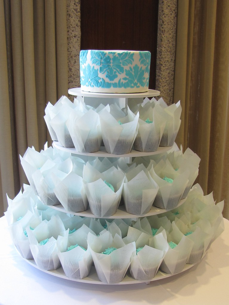 Blue Cupcake Wedding Cakes Traffic Club