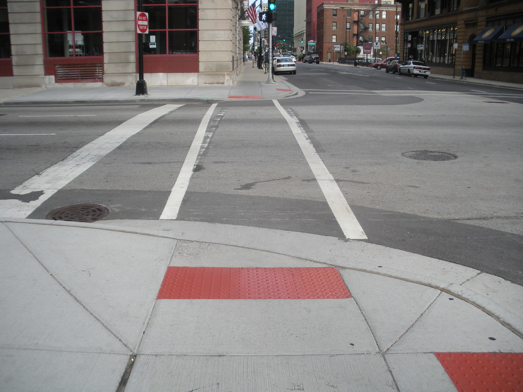 Chicago Ada Compliant Sidewalk Ramp Example Of Properly