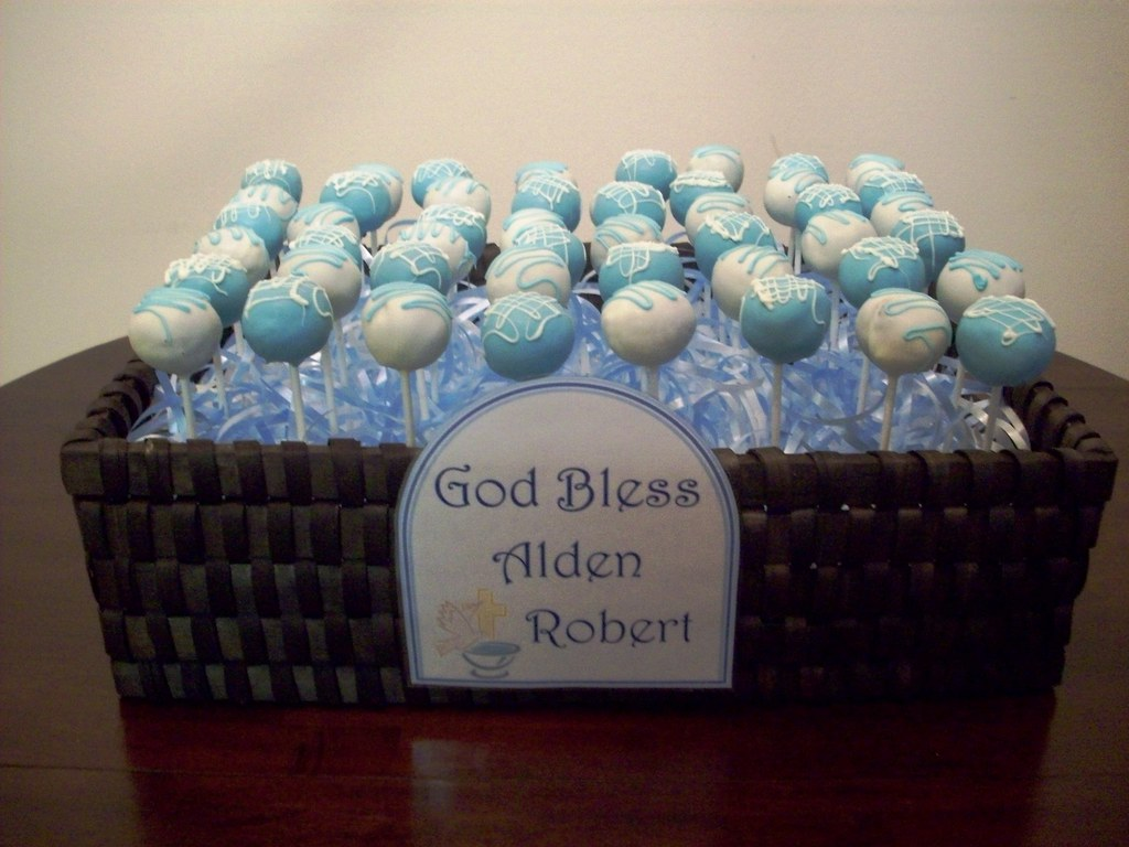 Baptism Cake Pops Photo
