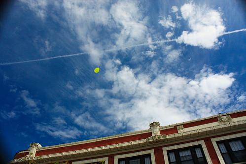 Escapee A Lone Balloon Soars Skyward Over The Lincoln