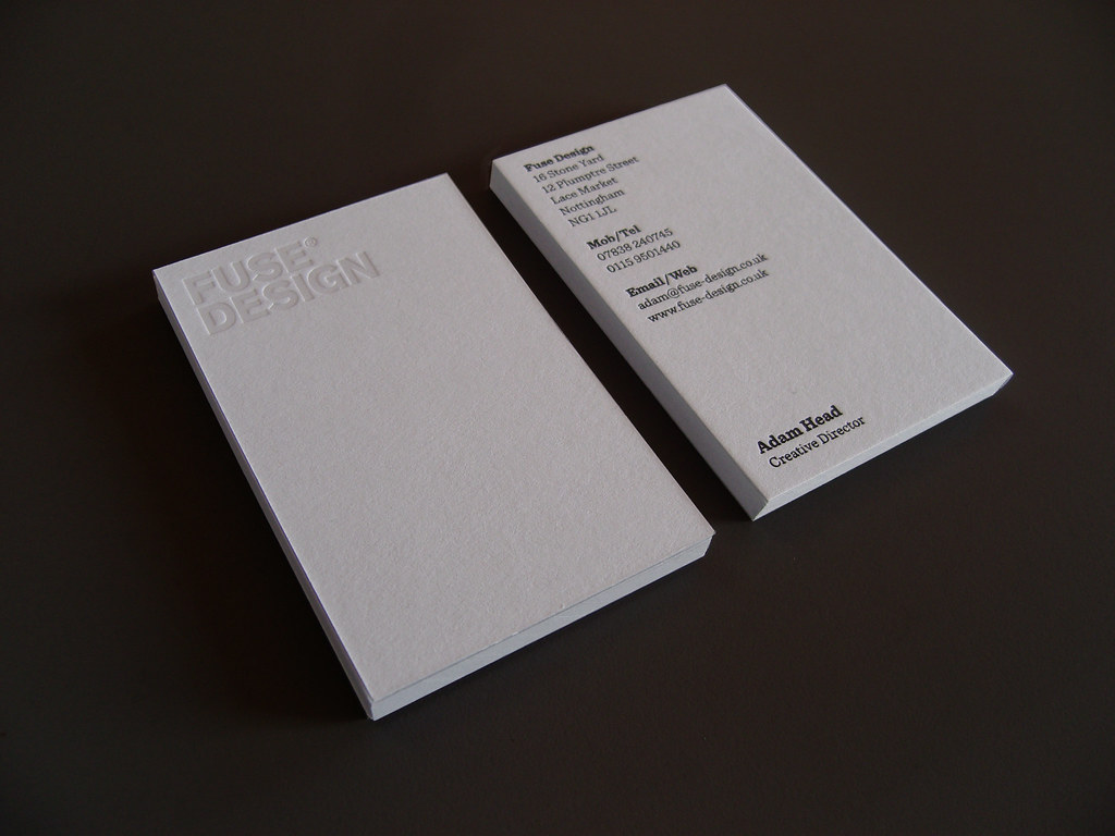 New Fuse Design Business Card - Clear Foil | Our limited run… | Flickr