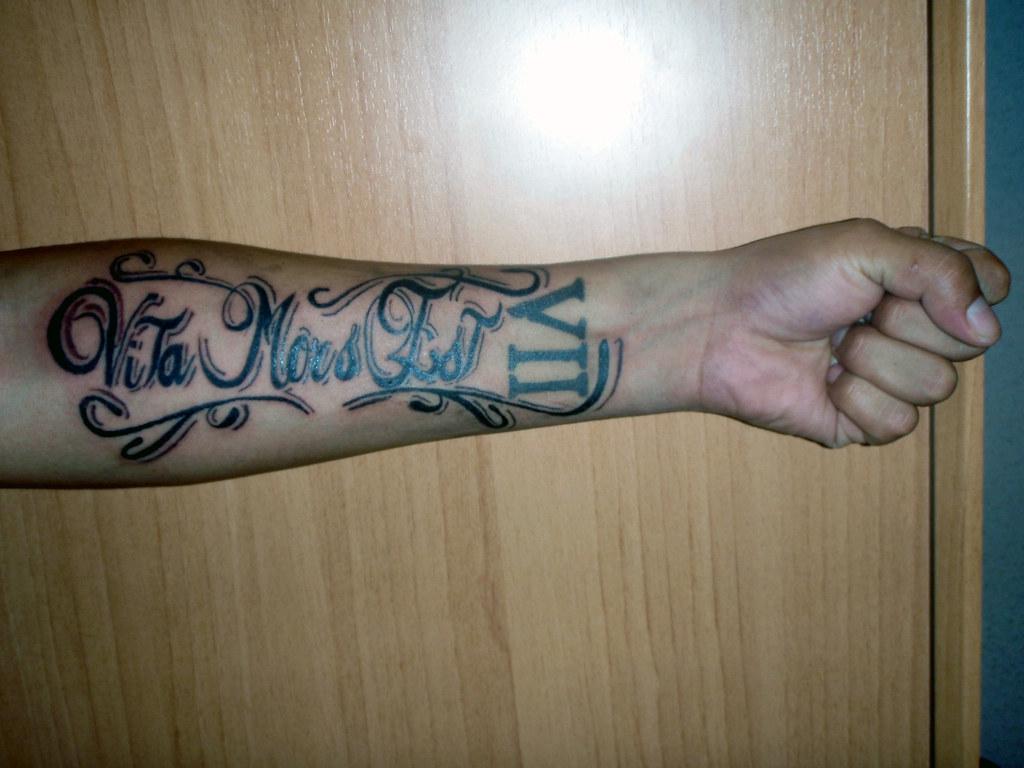 Tatuaje Vita Mors Estla Vida Es Muerte Shic51 Flickr