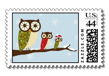 Winter Owl Postage Stamp Available At Zazzle Www Zazzle
