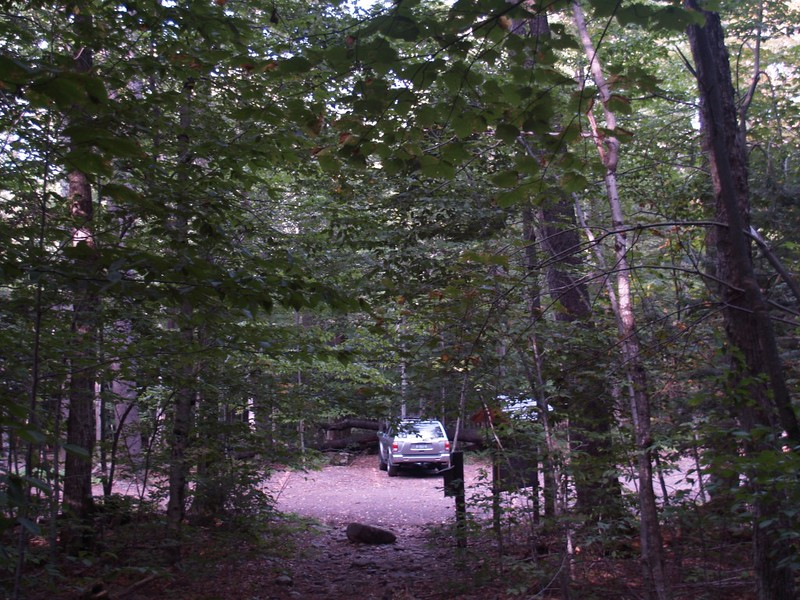 We arrive back at the trailhead parking area