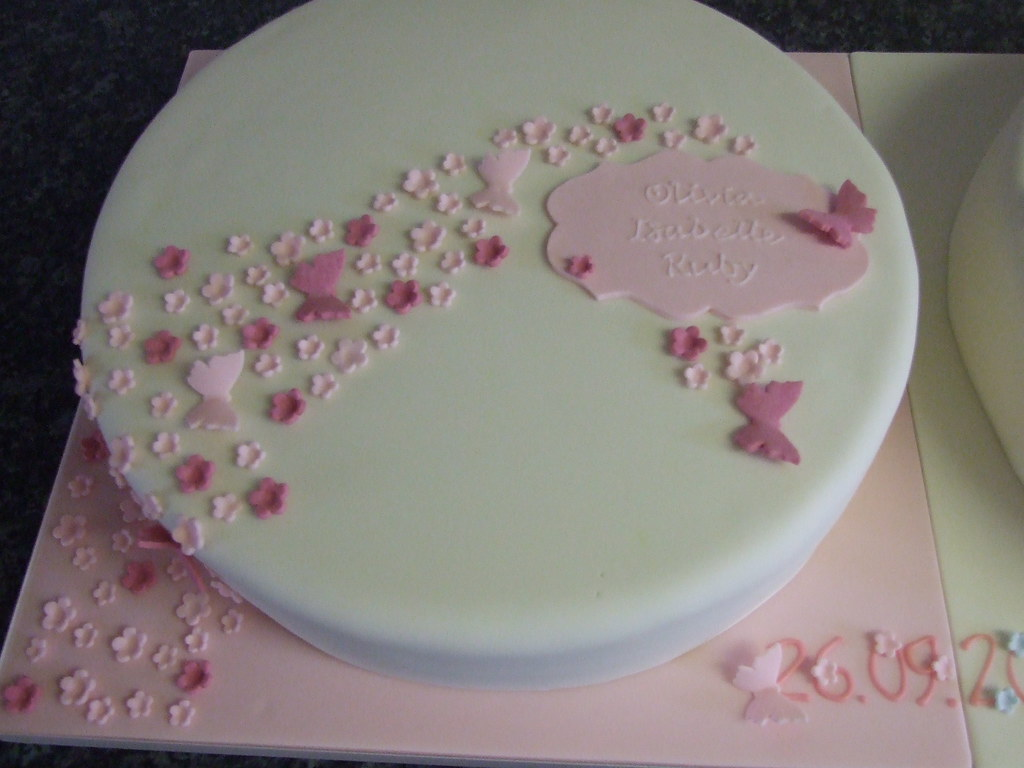 Christening Cake Designs For Twins : Christening Cakes For Twins Boy And Girl images