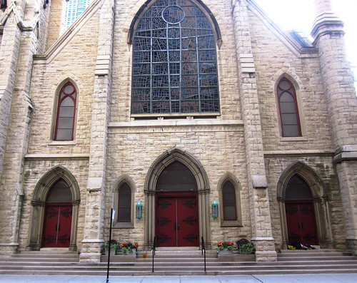 front of st  james episcopal cathedral  chicago