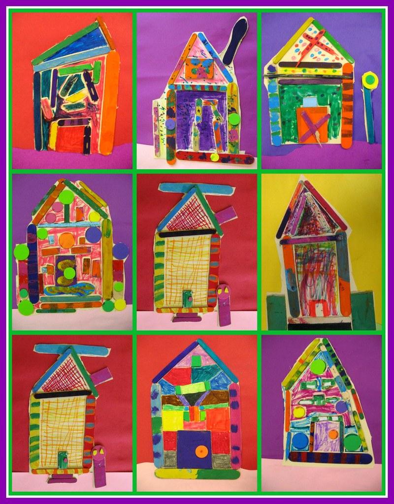 Kids House Drawing: 2nd Grade Heidelberg Houses