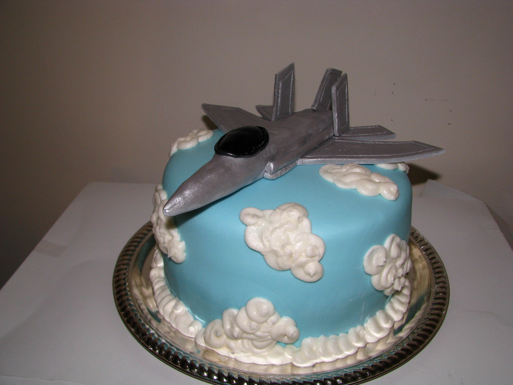 Fighter Jet Cake 4 layer cake with alternating layers of c Flickr