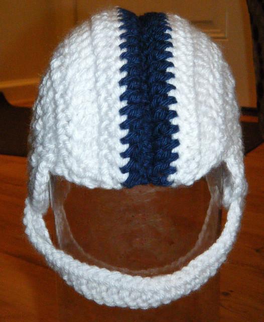 Crochet Pattern For Baby Helmet : Crochet baby PSU football helmet Flickr - Photo Sharing!