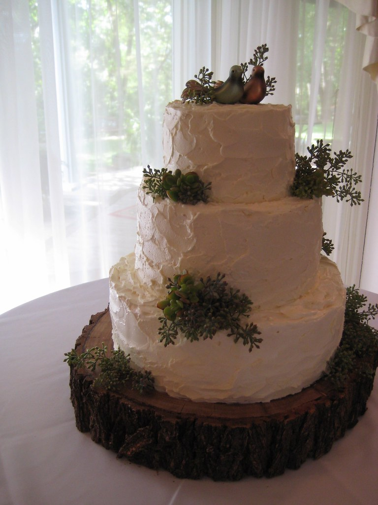 Rustic Naturey Wedding Cake As Seen On Style Me Pretty