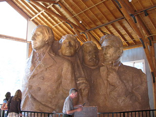 The final model of Mt. Rushmore in the sculptor's studio | by ConspiracyofHappiness