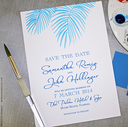 hand-painted-beach-theme-save-the-date-cards | Beach theme s… | Flickr
