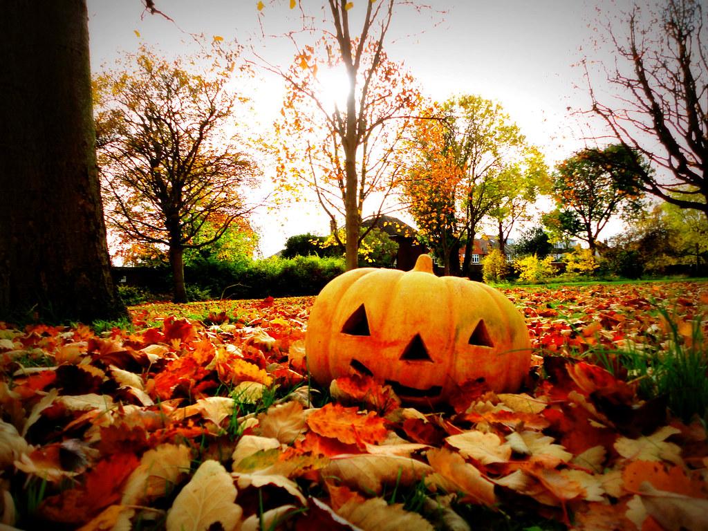 Autumn leaves halloween scene kevin grosvenor flickr - Pics of fall scenes ...