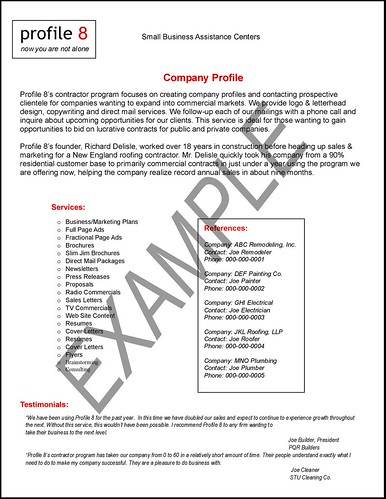 Company Profile Sample | Flickr   Photo Sharing!