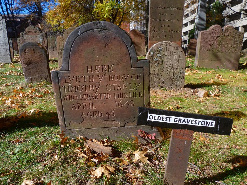 Quot Oldest Gravestone Quot 1648 Ancient Burying Ground Hartfor