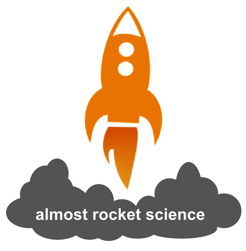 Rocket Science Logo Almost Rocket Science Logo