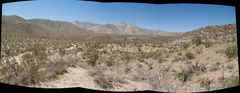 Panorama view of Collins Valley.  Middle Willows is far away in the distance on the right.