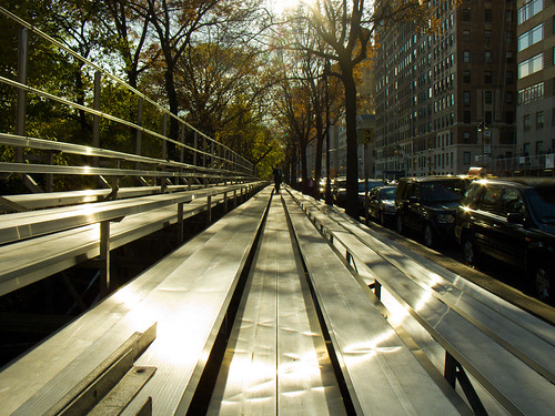 Setting up bleachers for the Thanksgiving Day Parade | by A Life of Cyn