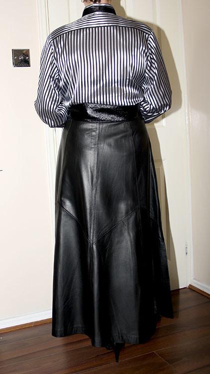 leather full length governess skirt | sheerglamour | Flickr