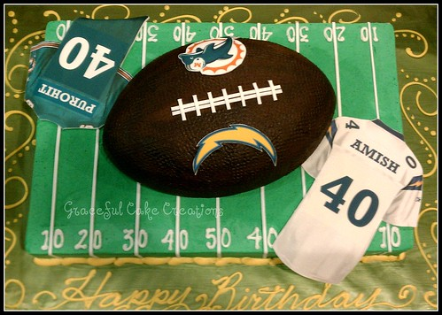 Birthday Football Cake With Name