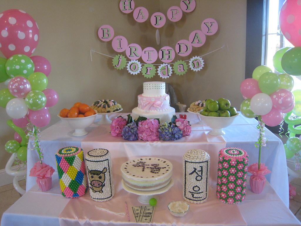 Traditional Korean Style 1st Birthday Dol Or Doljanchi