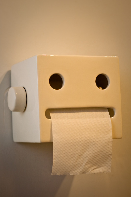 japanese toilet paper holder. Robotan  by Cimm Our new Japanese toilet paper holder love it Simon