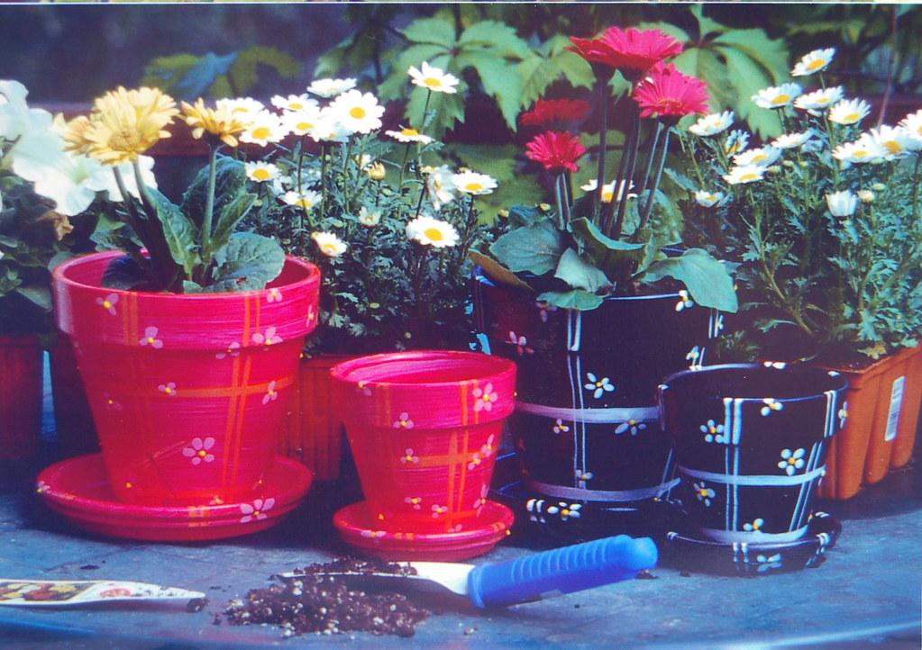 Flower Pot Hand Painted Flower Pots