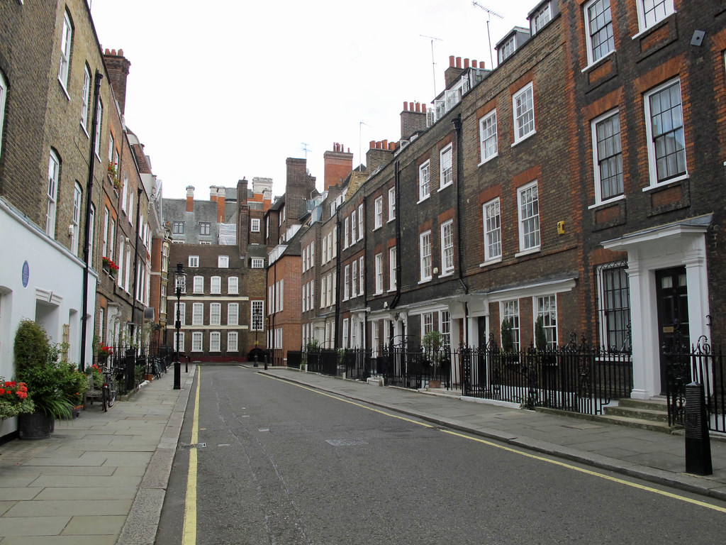 A Typical London Street But With NO CARS