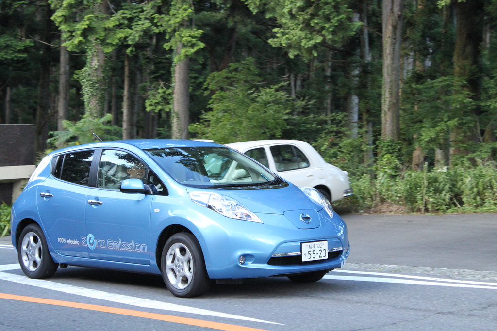 Nissan leaf in hakone 28 jul 2010 nissan for Nissan motor co ltd