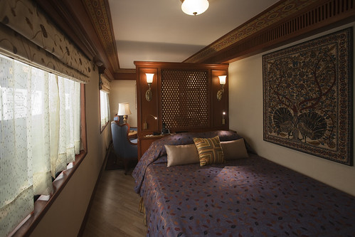 Bedroom With Double Bed On A Luxury Train The Maharajas