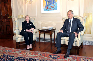 Secretary Clinton Meets With Quartet Representative Blair
