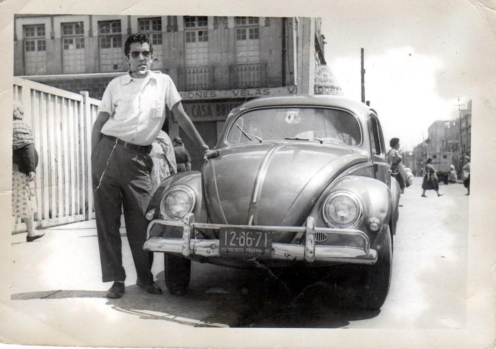 M 233 Xico Antiguo Mi Abuelo Con Un Volkswagen Por Ah 237 De