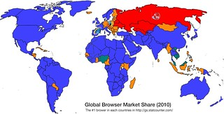 The #1 Web Browser of each country in 2010 | by Channy Yun